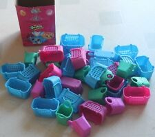 Shopkins MCDONALDS HAPPY MEAL Lot of 40 Various Baskets and Bags plus RARE Box!!