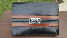 Vintage YSL Black and Brown Clutch