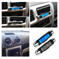 2 in1Mini Electronic Clock with Thermometer Digital LCD Display for Car Air Vent