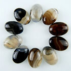 10pcs 25x18mm Charming Grey Onyx Agate Oval Cab Cabochon M-XL124