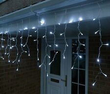 720 LED White Fairy Icicle Lights Christmas Indoor Outdoor Lighting