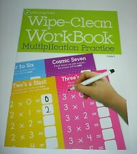 "Let's Grow Smart 11"" x 8"" Wipe-clean Multiplication FACTS Practice From 0-10"
