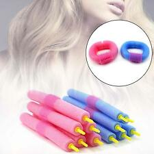12Pcs Soft Foam Curlers Makers Bendy Twist Curls Tool DIY Styling Hair Roller //