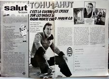 JULIEN LEPERS =  coupure de presse 2  pages 1974  + 1 page THE OSMONDS au verso