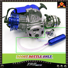 POWER/BOOST BOTTLE for 2 STROKE HIGH PERFORMANCE ENGINE POCKET BIKE 49CC BLUE