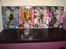 DC Comics Batman 4 Figures Joker Catwoman Harley Quinn Headstrong Bobble Heads