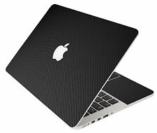 LidStyles BLACK CARBON FIBER Vinyl Laptop Skin Decal MacBook Pro 17 A1297
