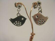Bird Stainless Steel Stud Drop Dangle Earrings