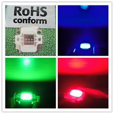 1pcs 10W RGB red/green/blue LED 10 Watt Lamp Bright Light Hi Power 9V-12V DC DIY