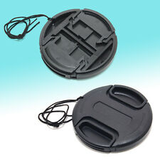 Center Pinch Snap Front Lens Cover Cap 37mm 40.5mm 52mm 58mm 67mm Canon Nikon