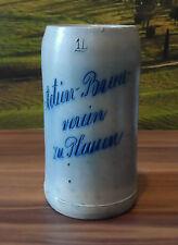 """SUPER RAR! sehr alter Bierkrug """"Actien Brauverein zu Plauen"""" 1L vorm. Sternquell"""