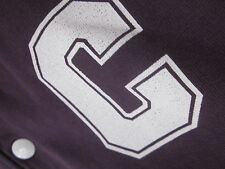 CARHARTT BASEBALL JACKET (M) PURPLE VARSITY BUTTON-FRONT COTTON Excellent used c