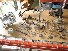 72 Yamaha JT1 Clutch Cover Crankcases Triple Tree Horn Flywheel Stator Parts Lot