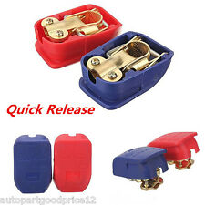 Car Truck Battery Terminals Clamps Pair Quick Release Lift Off Positive Negative