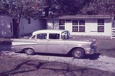 ANSCOCHROME 35mm Slide Indiana Evansville Old Classic Car Wings House 1950s?