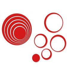 1 Set Indoors Decoration Circles Stereo Removable 3D Art Wall Stickers Reliable