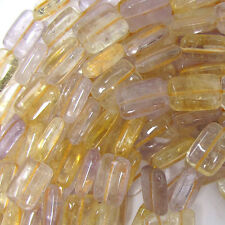 "10x14mm amethyst citrine rose quartz rectangle beads 15.5"" strand"