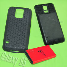 8680mAh Extended Battery Back Cover TPU Case for Samsung Galaxy S5 I9600 Phone