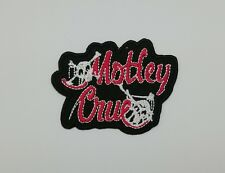 Motley Crue Patch Embroidered Sew Iron On Rock Band Heavy Glam Metal Music DIY