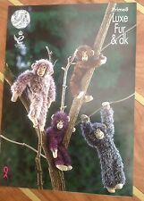 King Cole Lux Fur Chunky & Double Knit Chimpanzees Knitting Pattern - Prime 8