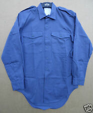 "GENUINE 1972 PATTERN R.A.F MANS BLUE WORKING SHIRTS -SIZE 39 TO 40""CHEST"
