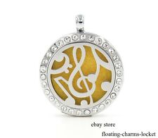 1pc Musical Note Crystal Aromatherapy Essential Diffuser Locket Free Shipping