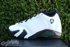 NIKE AIR JORDAN 14 XIV RETRO GS 5.5 Y OXIDIZED GREEN WHITE BLACK OG 487524 106
