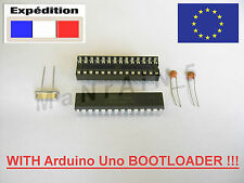 Kit ATMEL ATMEGA328P-PU with Bootloader + quartz 16Mhz + 2x22pF + 28 DIP Socket