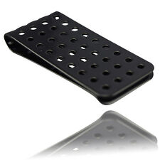 Mens Stainless Steel Metal Black Money Clip With Holes design Gift Wallet Note