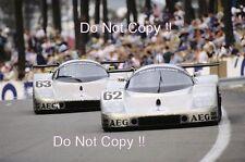 Sauber Mercedes C9 equipo coches 1st y 5th lugar Le Mans 1989 fotografía