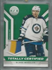 2013/14 Totally Certifed PATCH Blake Wheeler JETS #d 2/5