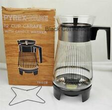 PYREXWARE 12 Cup Carafe with Candle Warmer in BOX 7812CW Coffee Pot