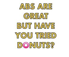 Funny Abs Gym quote iron on transfer A5 size