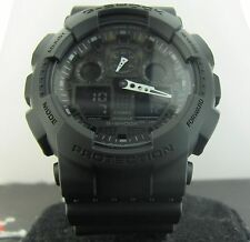 G-Shock Casio GA100-1A1 Stealth Blk Magnetic Resist World Time 200m Watr Resist
