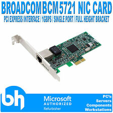 Dell Broadcom BCM 5721 Gigabit Single-Port Ethernet Card 0HF692 PCI Express NIC
