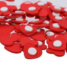 100Pcs Wood Red Heart Embellishments Wooden Adhesive Craft Wedding Supplies