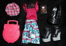 NEW Lorna McNessie Smaller Monster High Doll Clothes Outfit Shoes Skirt Scottish