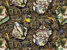 REALTREE COTTON FABRIC-REAL TREE CAMOUFLAGE FABRIC WITH FISH-10010
