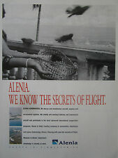 1991 PUB ALENIA AERONAUTICS AMX ATR OISEAU BIRD FLIGHT ORIGINAL AD