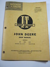 JOHN DEERE  80 820 830 SHOP MANUAL I&T