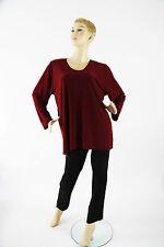 Shirt Tunika rot langarm  Magna Lagenlook Größe 40 42 Neu