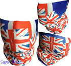 BIKE/CYCLING FUNCTIONAL JERSEY HEADWEAR SCARF MASK SUN/WIND PROTECT BRITISH FLAG