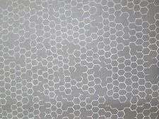 CHICKEN WIRE FENCE GREY COTTON FABRIC BTHY OOP