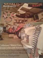 Bonhams Auction Catalogue Sept.2009.Motor Cars Motorcycles and Automobilia.