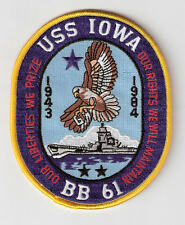 JACKET PATCH-UNITED STATES NAVY - USS IOWA