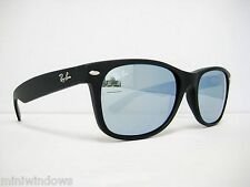 Ray Ban New Wayfarer RB2132 622/30 Black/Silver Mirror 55mm NEW AUTH SUNGLASS