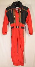 Vintage OBERMEYER Snowsuit Ski Snow Suit Coveralls RED BLACK 1990's • Size 10