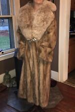Vintage Hollywood Mink w Fox Handmade stunning fur coat perfect shape warm