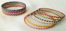 Indian Traditional Ethnic 12pcs Multi Colored  Bridal Bangles Set Jewelry 2.8.