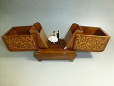VINTAGE REUGE DANCING BALLERINA CIGARETTE / ITEMS WOODEN CASE HOLDERS MUSIC  BOX